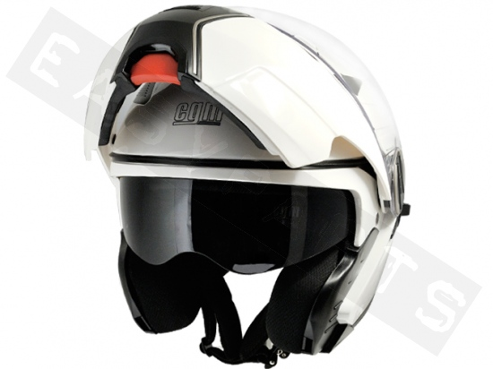 Systeemhelm CGM Singapore Metallic Wit